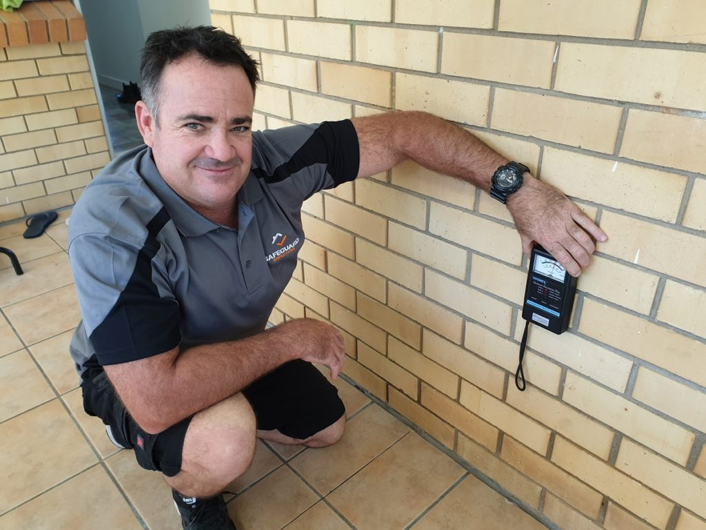 Ben performing building inspections Brisbane