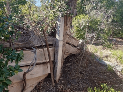 Failing Retaining Wall