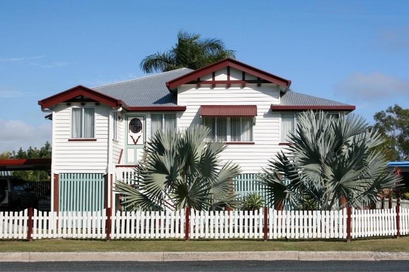 Queenslander home with stumps