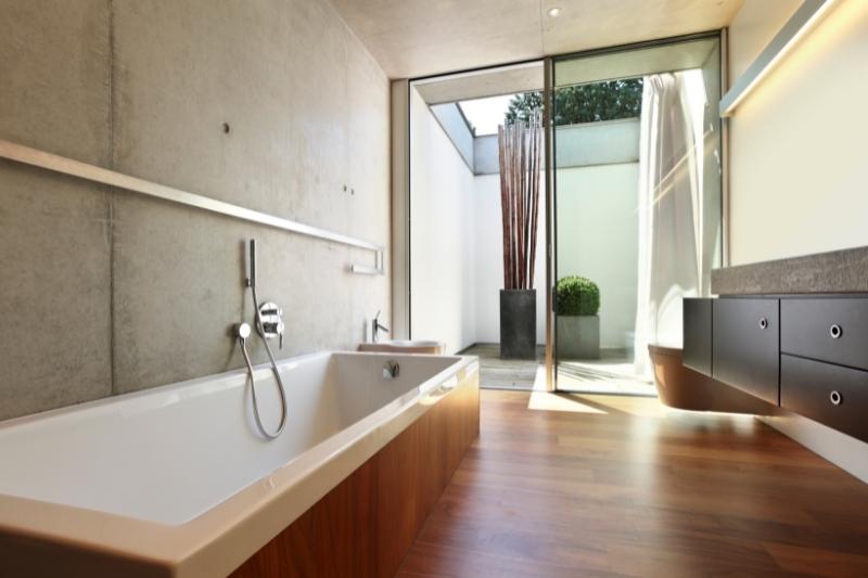 timber floor for bathroom